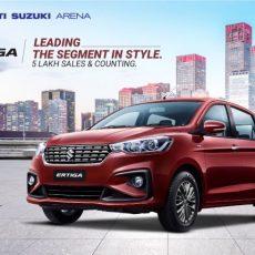 Maruti Suzuki Ertiga sells Five Lakh Units.