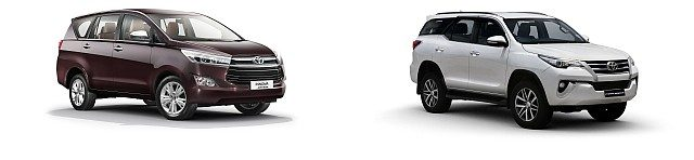 WEB Innova and Fortuner