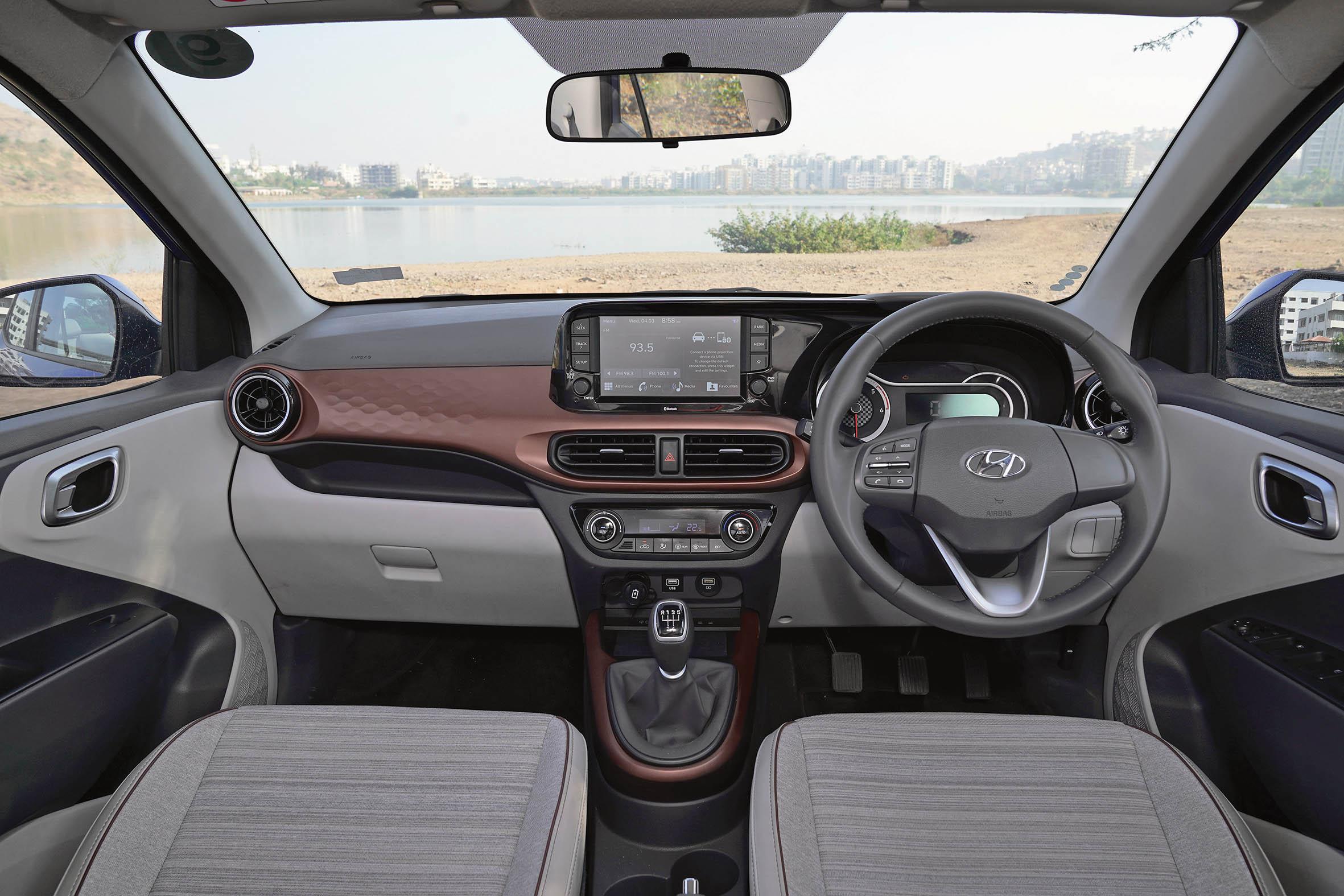 New Hyundai Aura sedan dashboard