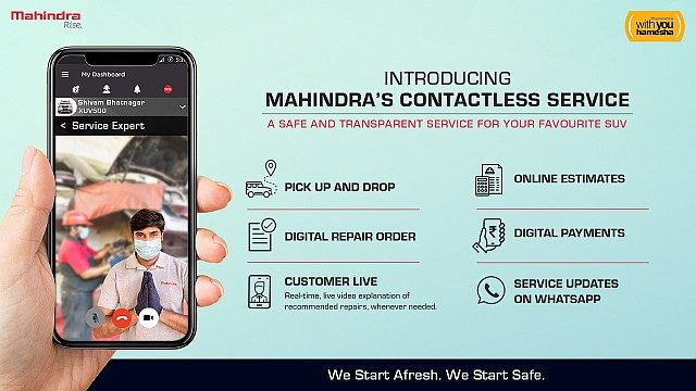 Mahindra Contactless Service - Infographic WEB