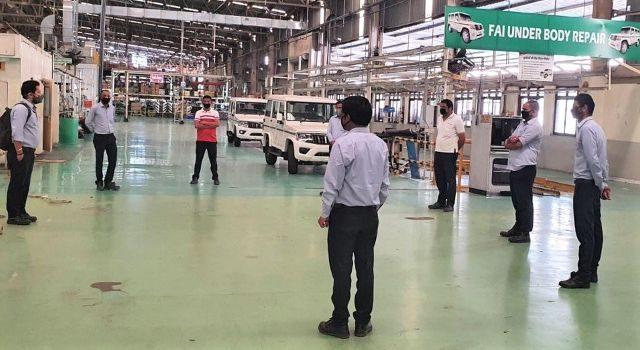 mahindra resume production lockdown