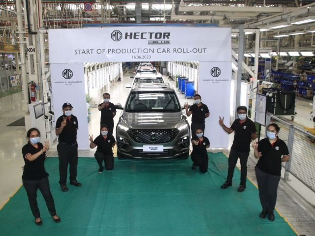 MG Motor India commences production of HECTOR PLUS at its Halol unit WEB