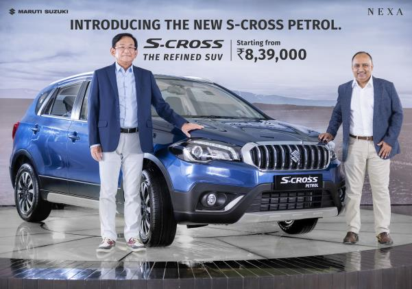 Kenichi Ayukawa, Managing Director & CEO, Maruti Suzuki India with S-cross