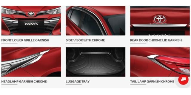 Toyota Yaris BS6 Accessories