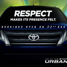 Toyota Urban Cruiser Bookings Open