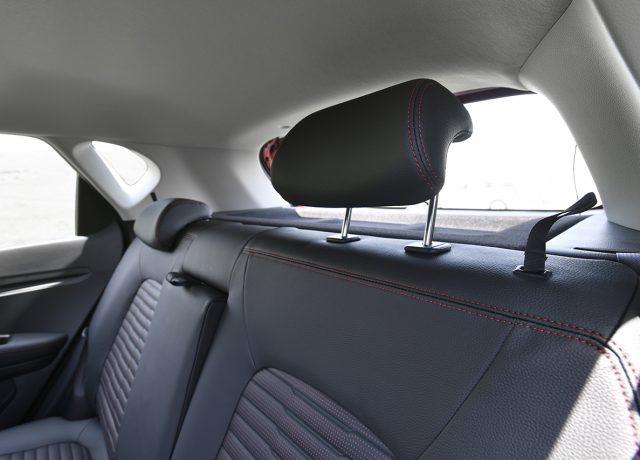 Kia Sonet rear seat adjustable head rest