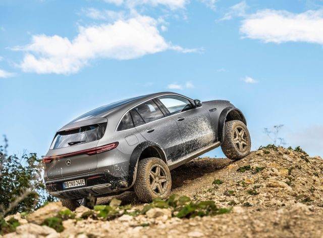 The Mercedes-Benz EQC 4x4 squared is the latest in their line of off-road vehicles to receive the 'squared' tag and their first electric vehicle to do so.