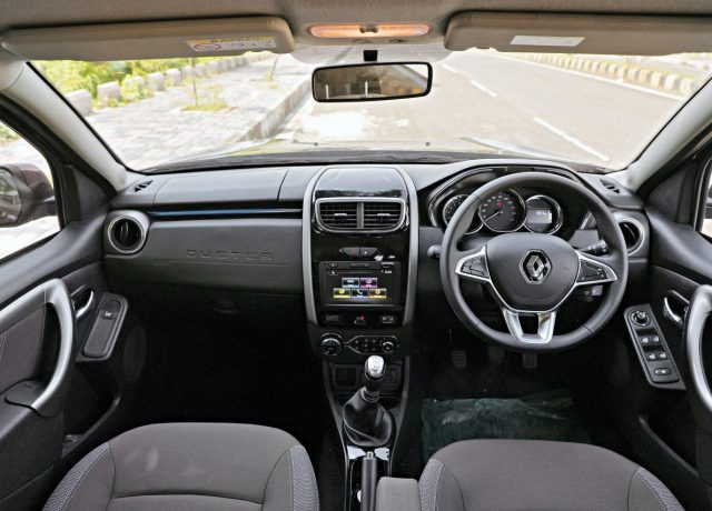 Renault Duster 1.3 turbo-petrol car India review car cabin