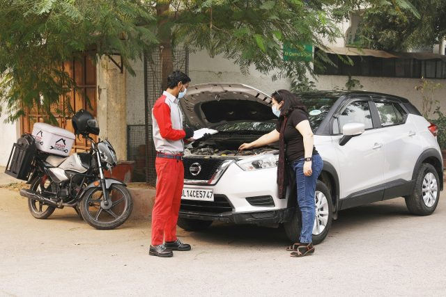 Nissan India Service at home