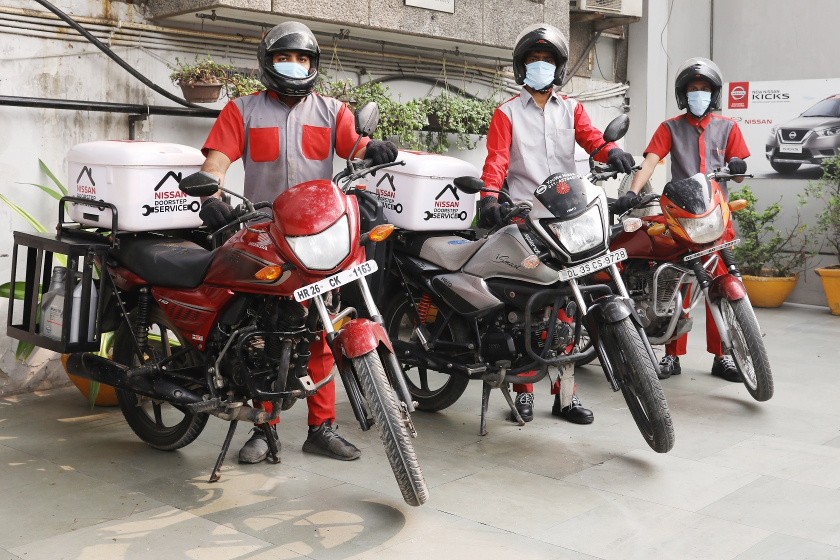Nissan India service reach motorcycle at home