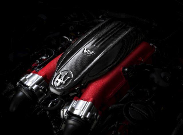 The 2021 Maserati Ghibli Torfeo performance engine