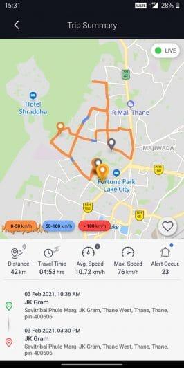 Mahindra BlueSense app